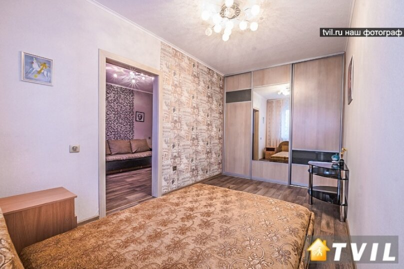 2-комн. квартира, 50 кв.м. на 2 человека, Аэровокзальная улица, 2З, Красноярск - Фотография 2