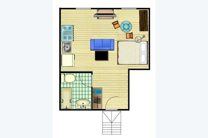 1-комн. квартира, 38 кв.м. на 3 человека, Садовая-Триумфальная улица, 18-20, Москва - Фотография 16