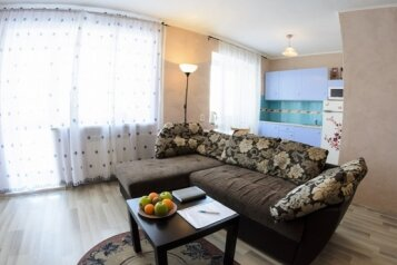2-комн. квартира, 60 кв.м. на 5 человек, улица Ермака, 18, Центральный район, Новокузнецк - Фотография 1