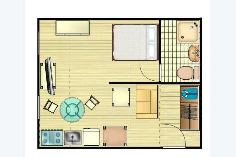 1-комн. квартира, 33 кв.м. на 3 человека, Смоленская-Сенная, 23-25, Москва - Фотография 12
