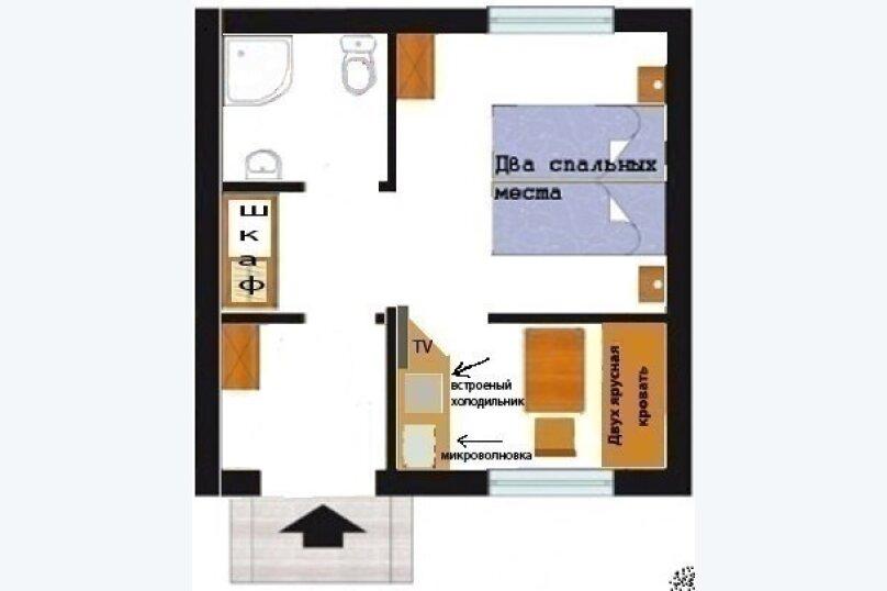 Дом до 4 человек на Волге, 45 кв.м. на 4 человека, 4 спальни, д. Кочнево, 1, Кимры - Фотография 8