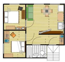 3-комн. квартира, 58 кв.м. на 6 человек, Малый Каковинский переулок, 6с1, метро Смоленская, Москва - Фотография 3