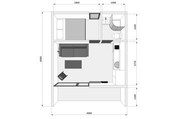 ЭКОДОМ, 30 кв.м. на 4 человека, 1 спальня, дер.Устье, Звенигород - Фотография 2