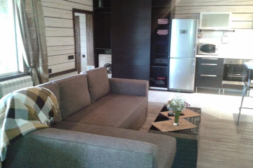 Шале с камином для семейного отдыха, 60 кв.м. на 2 человека, 2 спальни, 40 лет Октября, 10, Таватуй - Фотография 4