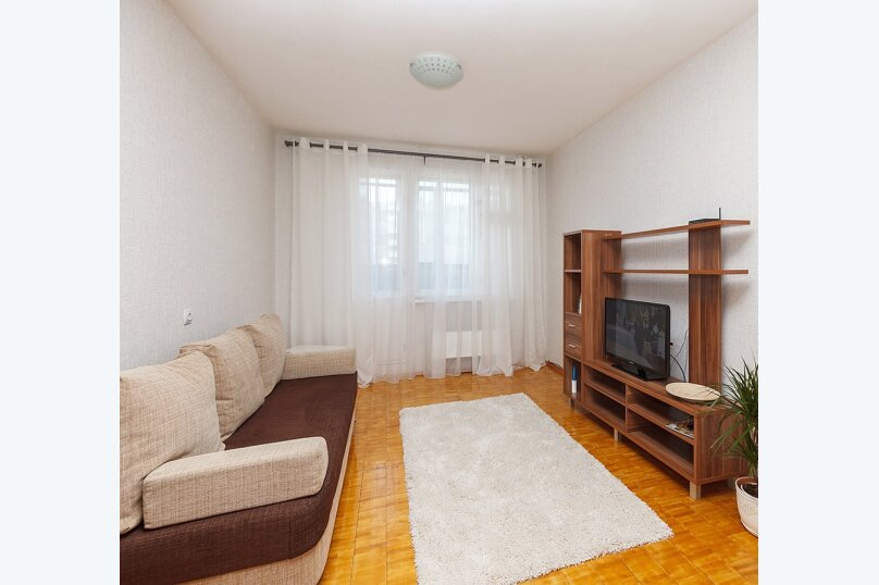2-комн. квартира, 46 кв.м. на 6 человек, Родонитовая улица, 2к2, Екатеринбург - Фотография 1