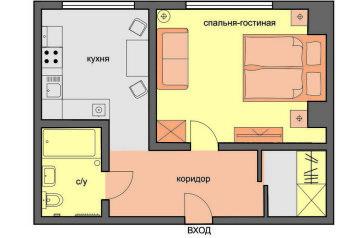 1-комн. квартира, 33 кв.м. на 4 человека, Марксистская улица, 5, Москва - Фотография 2