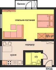 1-комн. квартира, 30 кв.м. на 4 человека, Бережковская набережная, 10, Москва - Фотография 2