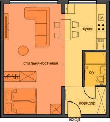 1-комн. квартира, 31 кв.м. на 3 человека, Грузинский переулок, 10, Москва - Фотография 2