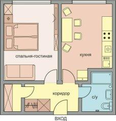 1-комн. квартира, 39 кв.м. на 4 человека, Марксистская улица, 5, Москва - Фотография 2