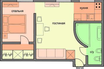 1-комн. квартира, 34 кв.м. на 2 человека, Петровский переулок, Москва - Фотография 2