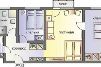 3-комн. квартира, 58 кв.м. на 8 человек, Большая Грузинская улица, вл62/1, Москва - Фотография 2