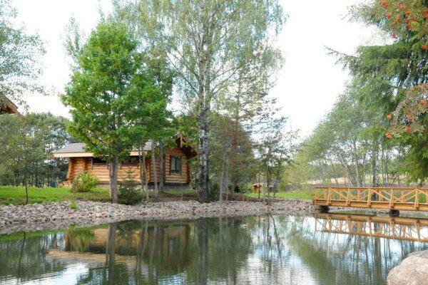 Домик у пруда с катком и развлечениями, 50 кв.м. на 4 человека, 1 спальня