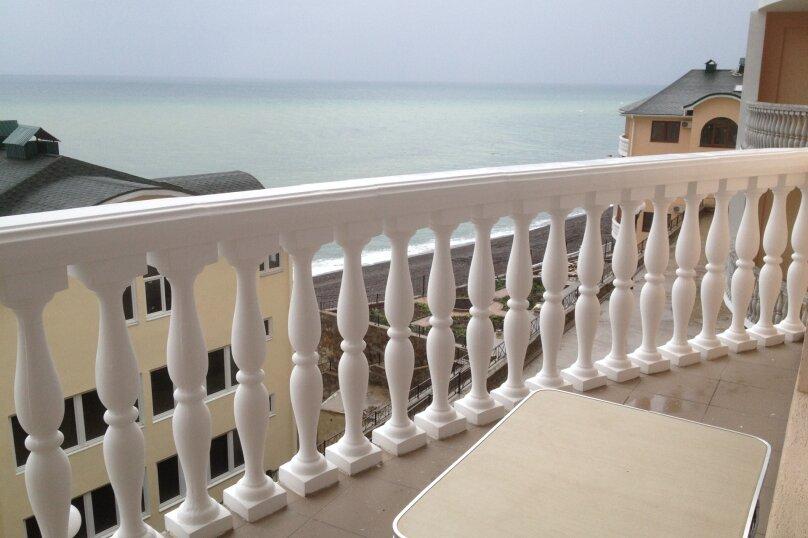 шести/семиместный двухкомнатный с балконом с видом на море+2 туалета/душа - номер 2+3, улица Прибрежная 1, 21/1, Рыбачье - Фотография 1