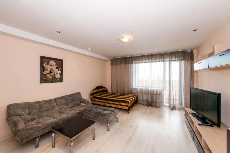 1-комн. квартира, 60 кв.м. на 4 человека, улица Галущака, 3, метро Гагаринская, Новосибирск - Фотография 1