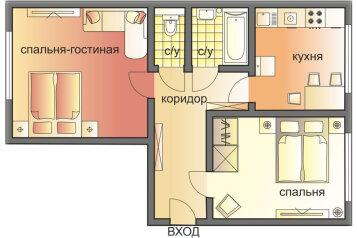2-комн. квартира, 55 кв.м. на 6 человек, Пуговишников переулок, 8, Москва - Фотография 2