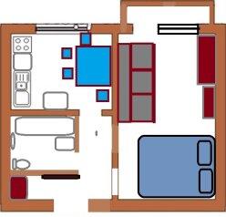 1-комн. квартира, 32 кв.м. на 2 человека, улица Некрасова, 23, Лабинск - Фотография 4