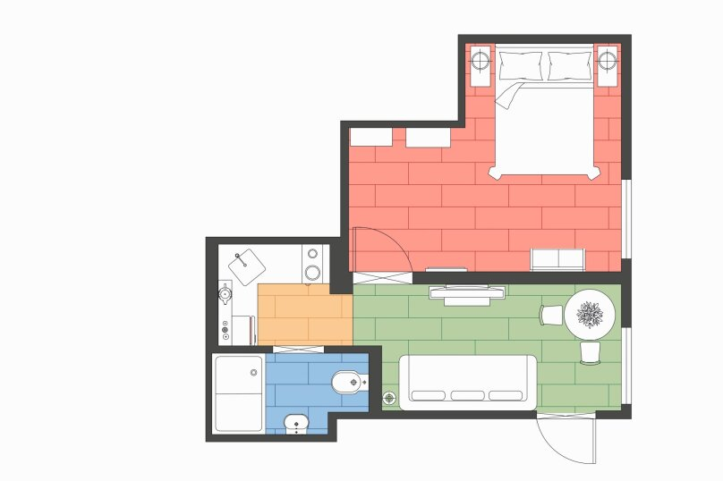 1-комн. квартира, 30 кв.м. на 4 человека, Невский проспект, 74-76, Санкт-Петербург - Фотография 3