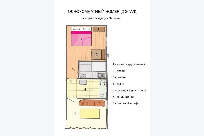 Однокомнатный полулюкс трехместный 2 этаж, 4-й Степной проезд, 3, Феодосия - Фотография 1
