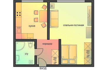 1-комн. квартира, 36 кв.м. на 4 человека, улица Новый Арбат, 26, Москва - Фотография 2
