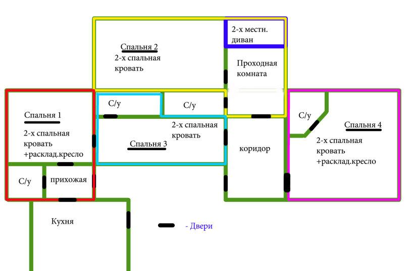 Дом на 12 человек со своим двором в центре Ялты на ул. Боткинская , 115 кв.м. на 12 человек, 4 спальни, Боткинская улица, 23, Ялта - Фотография 2