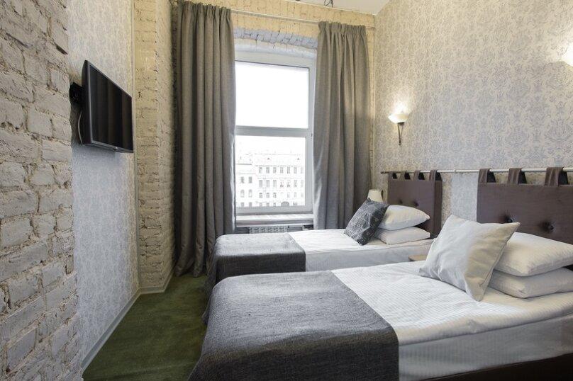 Стандартный двухместный номер с видом на Фонтанку(1 или 2 раздельные кровати), набережная реки Фонтанки, 56, Санкт-Петербург - Фотография 1
