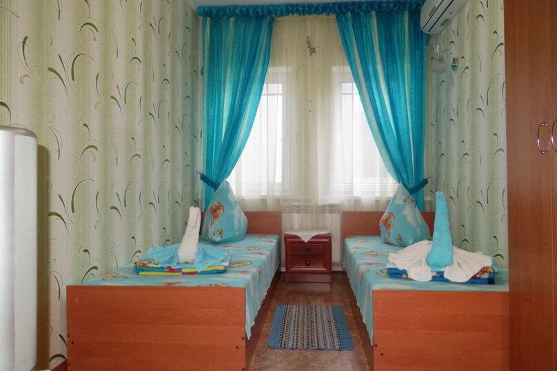 Эконом класс 2х местный бирюзовая комната, гвардейская улица, 11, Алушта - Фотография 1