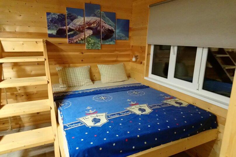 Двухуровневый маленький деревянный домик на берегу моря., 15 кв.м. на 4 человека, 1 спальня, улица Герцена, 25, Геленджик - Фотография 3