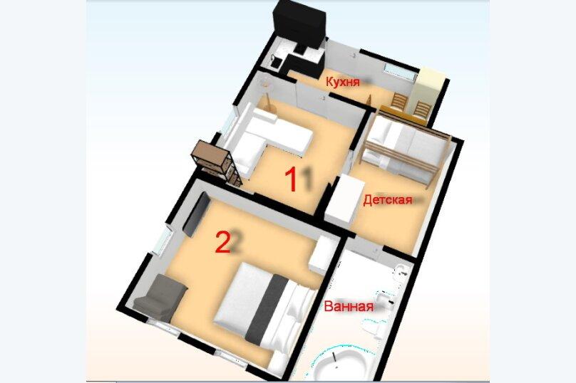 Дом для отдыха с 2 бассейнами , 60 кв.м. на 8 человек, 1 спальня, улица Островского, 56, Геленджик - Фотография 7