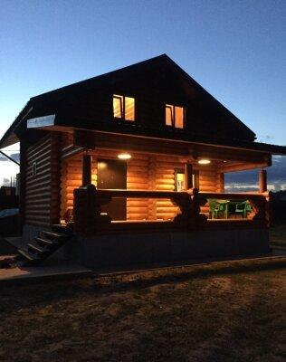 Дом с баней на дровах, 80 кв.м. на 8 человек, 2 спальни, Снежная Долина-2, уч. 526, Чехов - Фотография 1