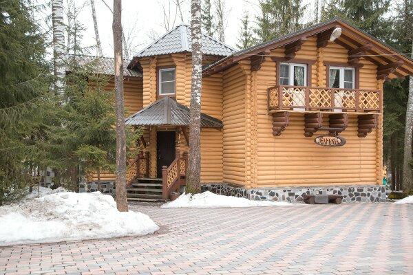 Двухэтажный деревянный коттедж с русской баней,...