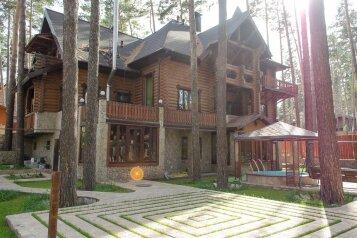 Дом на базе отдыха, 300 кв.м. на 15 человек, 5 спален, с. Сосновка, Солнечная улица, Новосибирск - Фотография 1