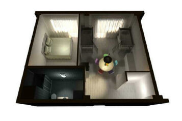 2-комн. квартира, 52 кв.м. на 6 человек, Эстонская, 88/11, Эстосадок, Красная Поляна - Фотография 4