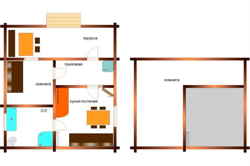 Дома на озере. Дом №1, 40 кв.м. на 4 человека, 1 спальня, Сяндеба, 38, Олонец - Фотография 11