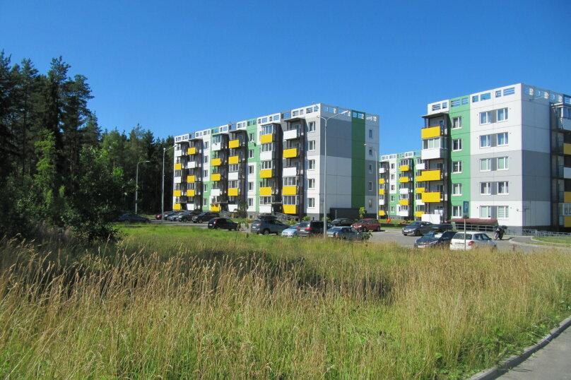 2-комн. квартира, 52 кв.м. на 4 человека, улица Софьи Ковалевской, 16Б, Петрозаводск - Фотография 2