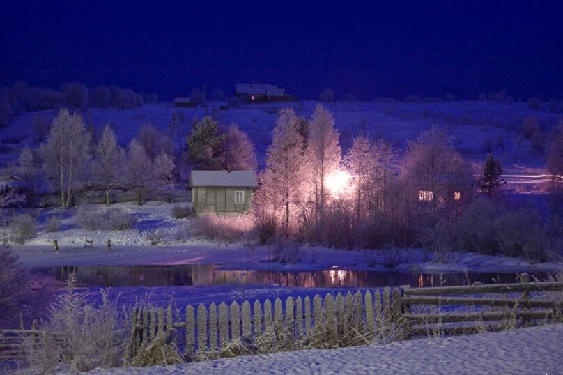 Дом на берегу озера в Карелии, 65 кв.м. на 4 человека, 2 спальни, деревня Кукшегоры, 1, Олонец - Фотография 15