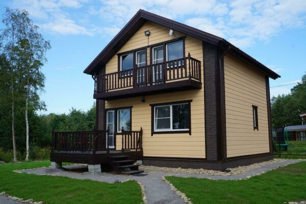 Дом для отпуска , 98 кв.м. на 6 человек, 2 спальни, пос. Ларионово, ул. Озерная, 38, Приозерск - Фотография 1