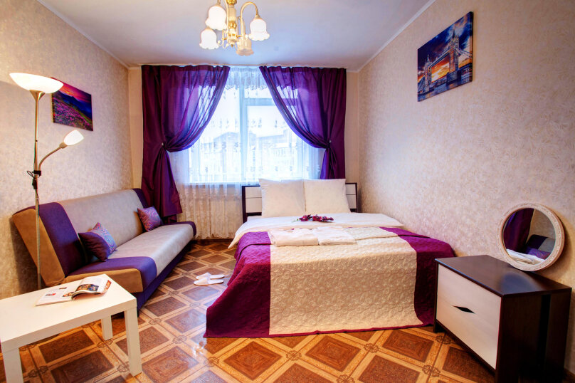 1-комн. квартира, 40 кв.м. на 4 человека, улица Алексеева, 27, Красноярск - Фотография 1