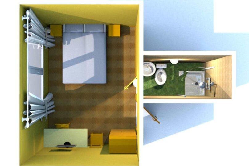 Двухместный номер с собственной ванной комнатой, ул. Уральских рабочих, 50а, Екатеринбург - Фотография 9