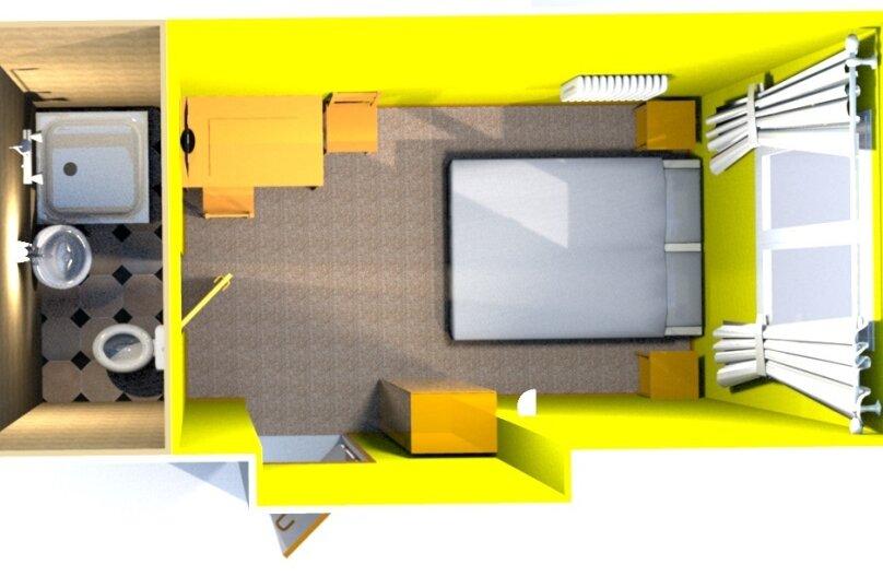 Двухместный номер с собственной ванной комнатой, ул. Уральских рабочих, 50а, Екатеринбург - Фотография 10