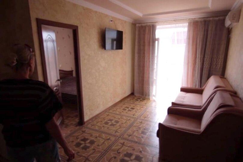 Двухкомнатный номер с большим балконом, 3-й этаж, улица Гагарина, 48Д, Судак - Фотография 1