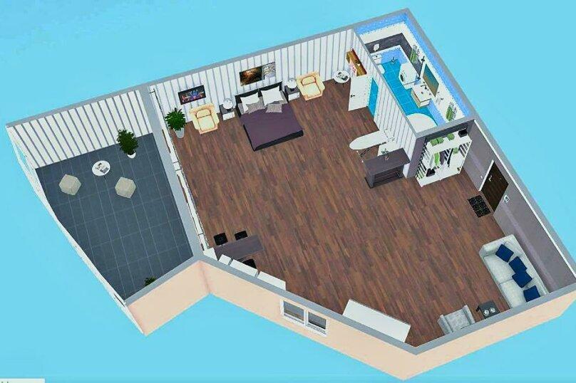 1-комн. квартира, 49 кв.м. на 4 человека, улица Игнатенко, 5, Ялта - Фотография 2