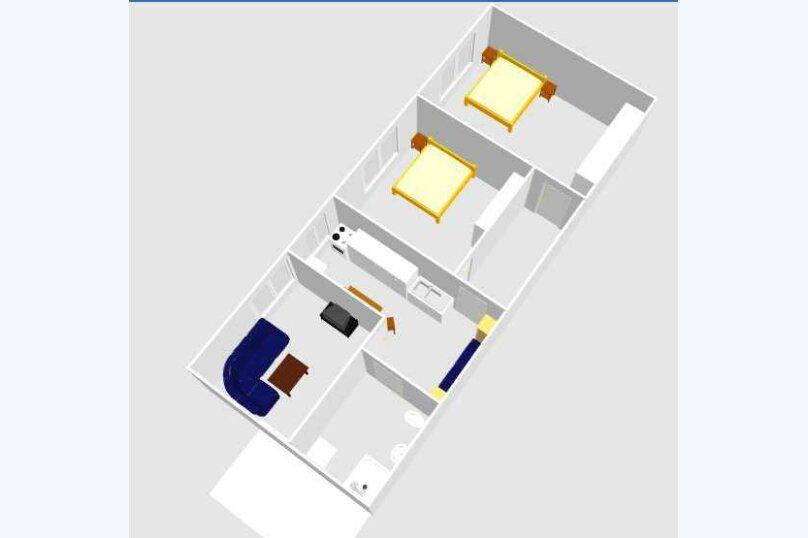 3-комн. квартира, 60 кв.м. на 6 человек, улица Шерифа Химшиашвили, 17, Батуми - Фотография 7