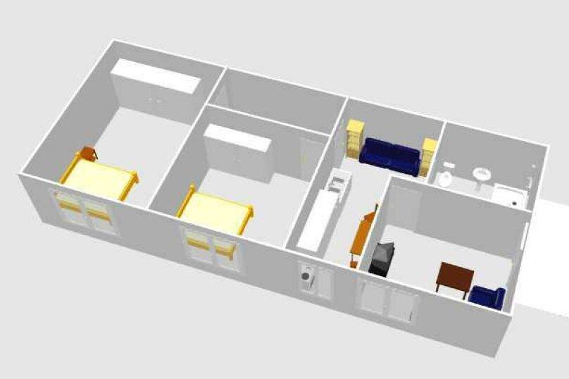 3-комн. квартира, 60 кв.м. на 6 человек, улица Шерифа Химшиашвили, 17, Батуми - Фотография 8