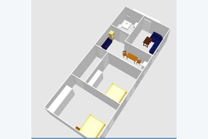 3-комн. квартира, 60 кв.м. на 6 человек, улица Шерифа Химшиашвили, 17, Батуми - Фотография 9