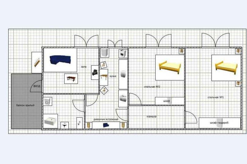3-комн. квартира, 60 кв.м. на 6 человек, улица Шерифа Химшиашвили, 17, Батуми - Фотография 20