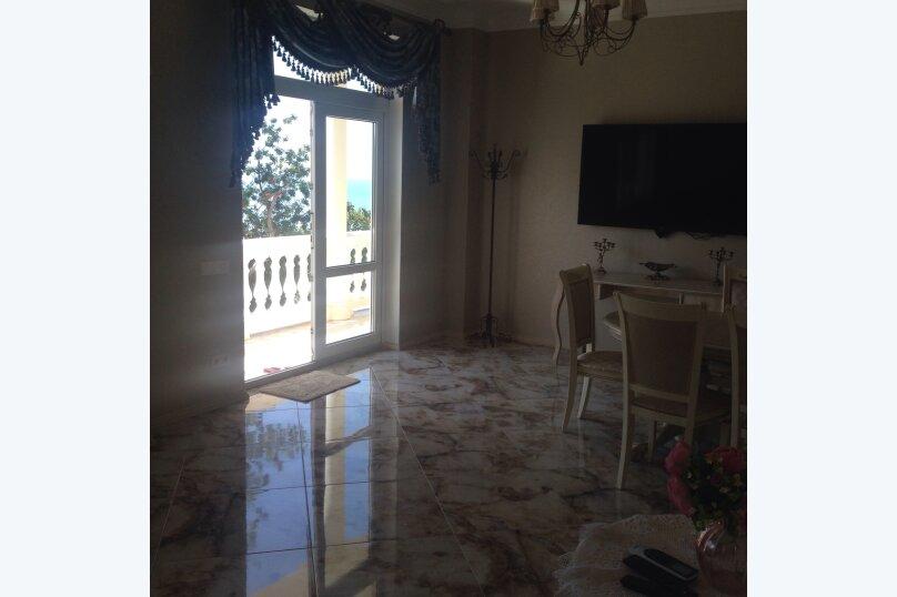 НОВЫЕ!!!Апартаменты с видом на море- второй этаж 3-х этажного дома, с отдельным входом, Севастопольское шоссе, 133 кв.м. на 6 человек, 2 спальни, Севастопольское шоссе, 54Е, Гаспра - Фотография 34