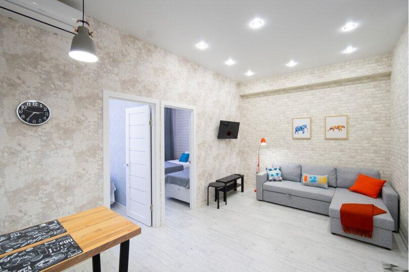 3-комн. квартира, 55 кв.м. на 6 человек, улица Турчинского, 19А, Красная Поляна - Фотография 1