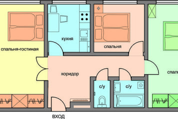 3-комн. квартира, 70 кв.м. на 7 человек, улица Новый Арбат, 26, Москва - Фотография 2