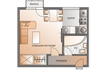 1-комн. квартира, 30 кв.м. на 3 человека, Бережковская набережная, 8, Москва - Фотография 2