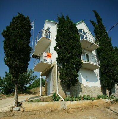 Коттедж, 40 кв.м. на 6 человек, 3 спальни, Подгорная, 1, Малореченское - Фотография 1